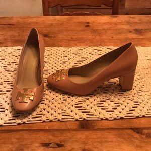 Tan leather Tory Burch heels